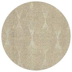 Jute Round Rug in Botanic Silk