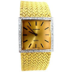 Juvenia 18 Karat Gold Diamonds Vintage Watch