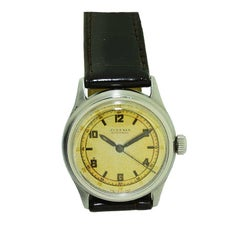 Juvenia Early Stainless Steel Automatic Wristwatch, circa 1930s