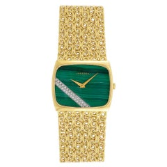 Juvenia Gold, Malachite and Diamond Wristwatch
