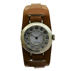 Juvenia Sterling Silver Campaign Style Rotary Phone Bezel Manual Wristwatch
