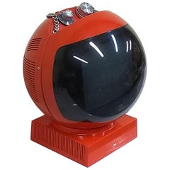 JVC Videosphere Red Space Helmet Television Black and White Portable TV