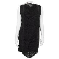 JW Anderson Black Fringe Shift Dress