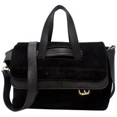 J.W Anderson Black Leather-trimmed Suede Shoulder Handbag