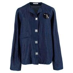 J.W. Anderson Blue Cotton & Linen blend Denim Shirt - Size US 36