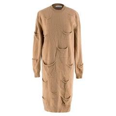 J.W. Anderson Camel Wool & Cashmere Pocket Details Knit Dress - Size S