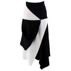 J.W. Anderson Contrast Asymmetric Skirt - Size XS