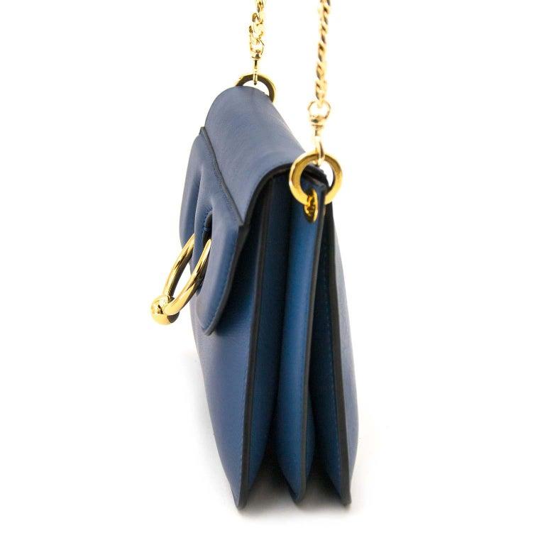 Black JW Anderson Mini Pierce Bag Storm Blue For Sale
