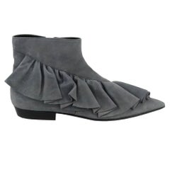 JW Anderson Ruffled Suede Ankle Boots EU 37 UK 4 US 7