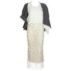 JW Anderson Silk Macrame Wood Beaded Fringe Dress Runway Spring 2019