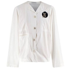 J.W. Anderson White Cotton Magnets Shirt - Size S