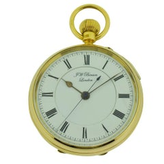 J.W. Benson 18Kt. Yellow Gold Men's Open Face Pocket Watch with Sweep Seconds