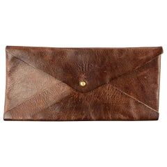 J.W HULME CO. Brown Leather Envelope