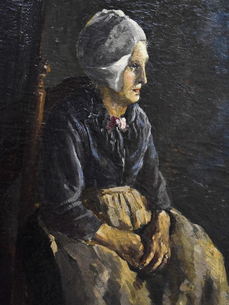 Johannes Willem Simon de Groot (Rotterdam, 1877 - 1956, Lunteren) was a Dutch painter. Besides being a painter, he was also a draftsman and lithographer. His subjects include interior, landscape, portrait and still lifes. He often included peasants