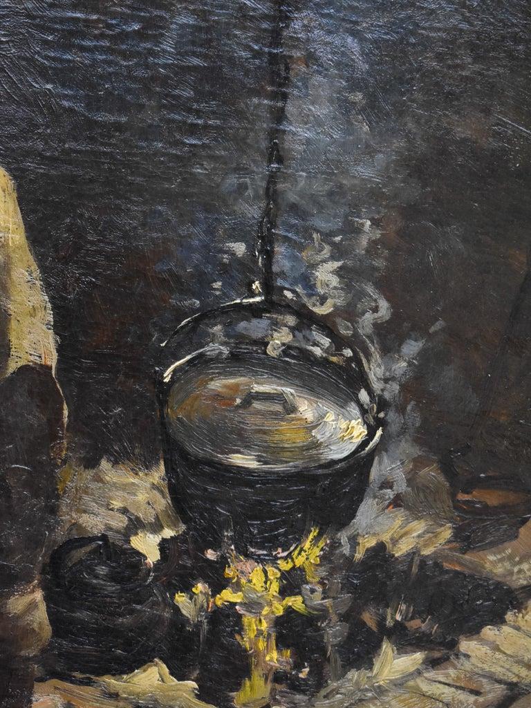Peasant Woman - Dutch - Romantic - Interior - Classic - Netherlands - Beaux-Arts For Sale 1
