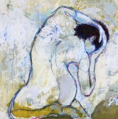 """""""Athena 10"""" High Energy Gestural Figurative Large Scale Mixed Media Painting"""