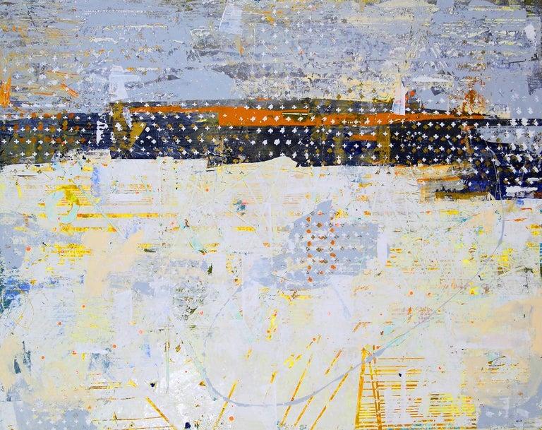 Jylian Gustlin Landscape Painting - Entropy 20 / contemporary - math + sciene + art