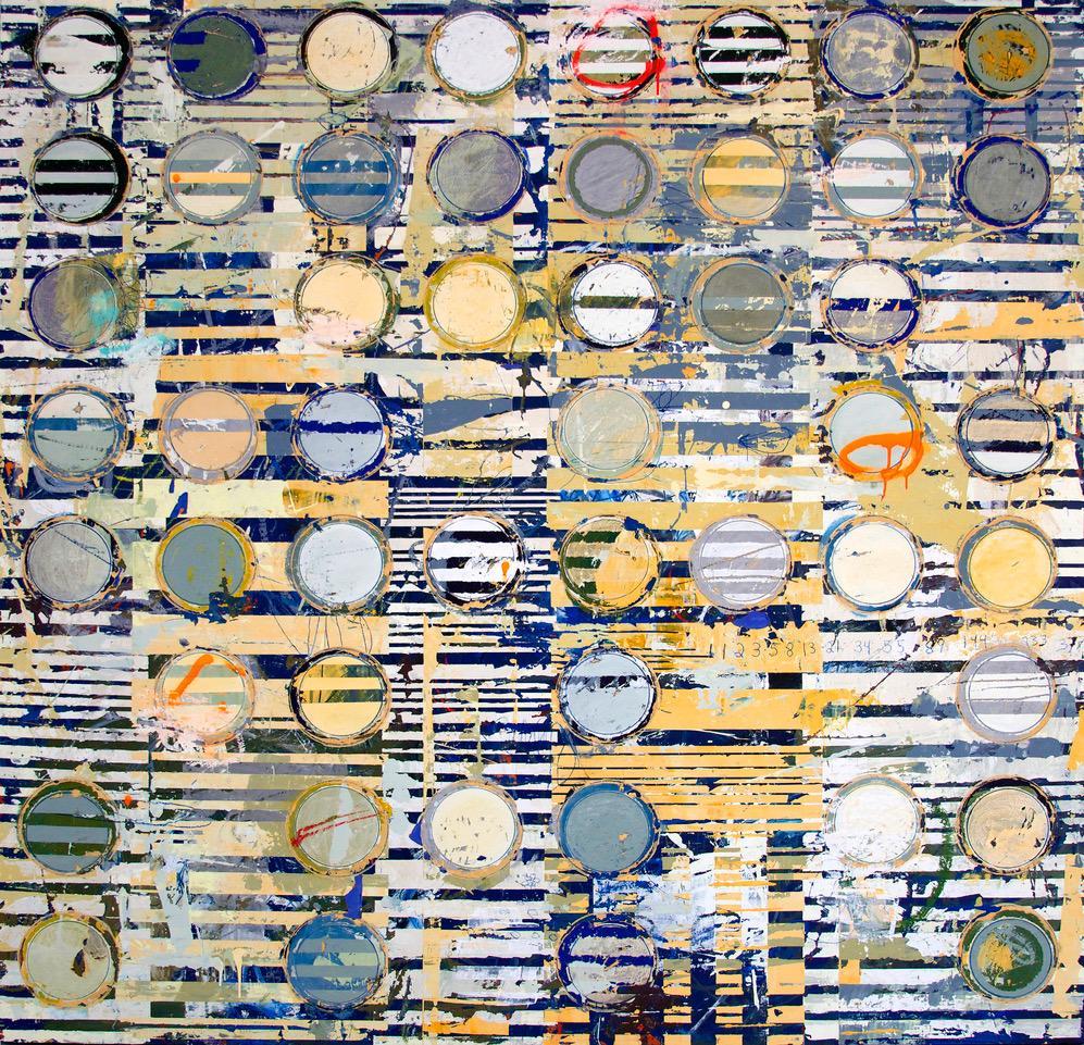 Fibonacci 263 / contemporary modern painting with resin - math + sciene + art
