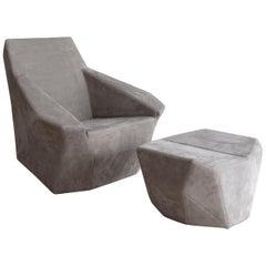 Jyn & Jon Chair and Ottoman by Pablo Reinoso (Domeau & Pérès Edition)