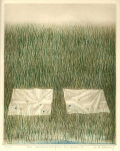 Two Handkerchiefs on the Grass (surreal image related to Whitman poem about God)