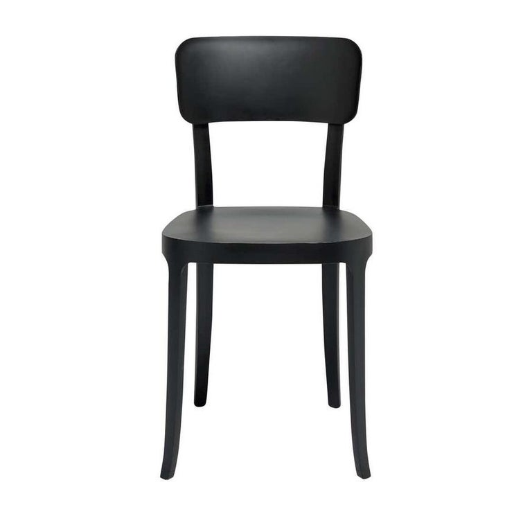 Italian In Stock in Los Angeles, K Black Dining Chair, Made in Italy For Sale