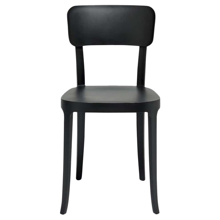 In Stock in Los Angeles, K Black Dining Chair, Made in Italy