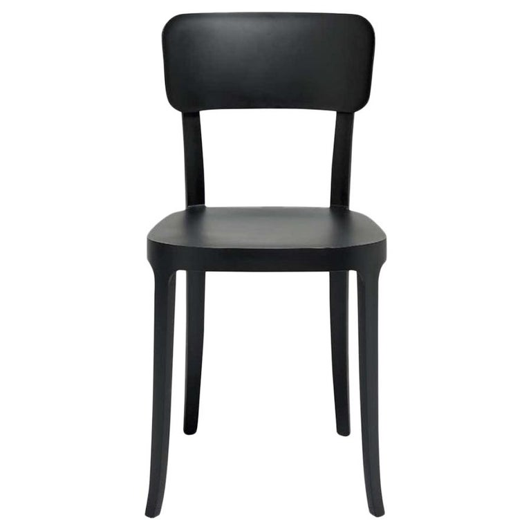 In Stock in Los Angeles, K Black Dining Chair, Made in Italy For Sale