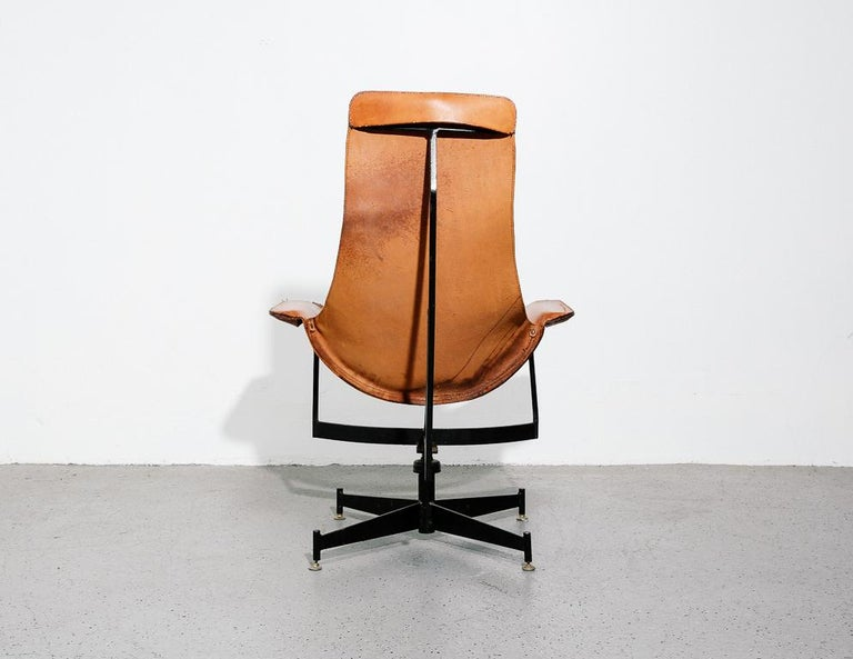 Steel 'K-Chair' by William Katavolos for Leathercraft For Sale