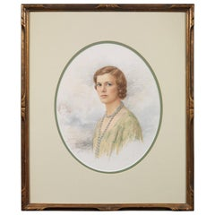 K. Collings Watercolour Portrait of a Lady