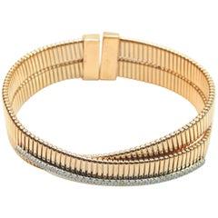 K DI Kuore 18 Karat Gold 20.80 GR and 0.39 Carat of Diamonds Bracelet