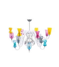 K1 Chandelier  8 lights in Murano Glass by Karim Rashid (Euro)