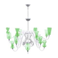 K1 Sixteen-Light Green Chandelier by Karim Rashid