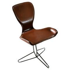 K2 Koi Leather Hand Made Swivel Chair