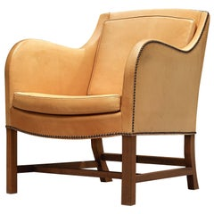 Kaare Klint and Edvard Kindt-Larsen Lounge Chair Model '4396' in Niger Leather