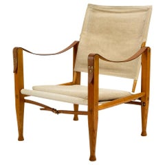 Kaare Klint Canvas Safari Chair, Denmark, 1950s