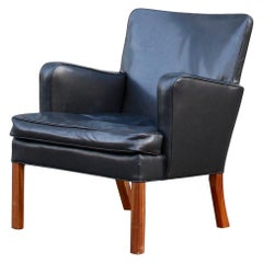 Kaare Klint Cuban Mahogany and Black Leather Model 5313 Chair, Early Production