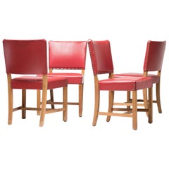 Kaare Klint Dining Chairs 3758 'The Red Chair' by Rud. Rasmussen, Denmark