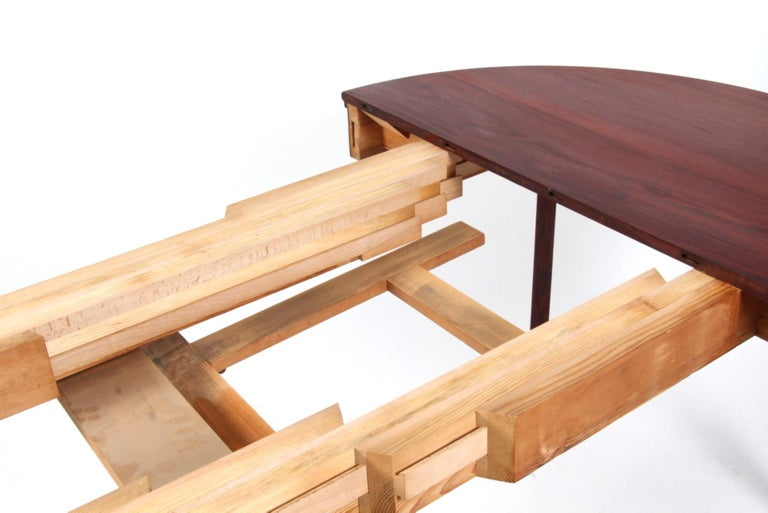 Kaare Klint Extension Table, Solid Cuba Mahogany, Rud Rasmussen, 1930s In Excellent Condition For Sale In Esbjerg, DK