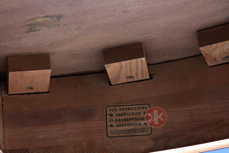 Kaare Klint Extension Table, Solid Cuba Mahogany, Rud Rasmussen, 1930s For Sale 1