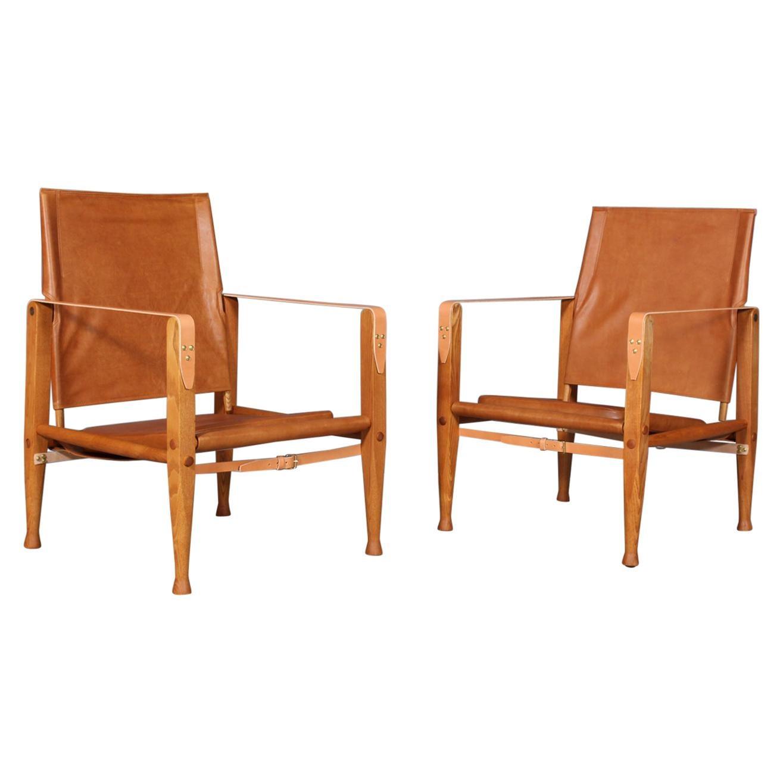 Kaare Klint for Rud Rasmussen, Pair of Safari Chairs