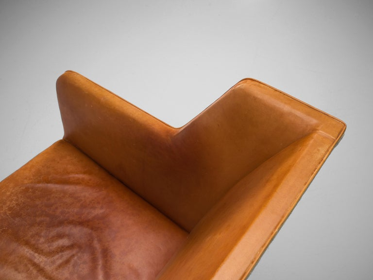 Scandinavian Modern Kaare Klint for Rud Rasmussen Sofa 4118 in Original Cognac Leather For Sale