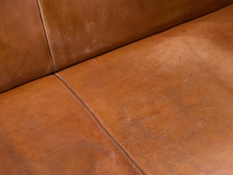 Late 20th Century Kaare Klint for Rud Rasmussen Sofa 4118 in Original Cognac Leather For Sale