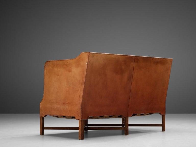 Scandinavian Modern Kaare Klint for Rud Rasmussen Sofa 4118 in Original Leather For Sale