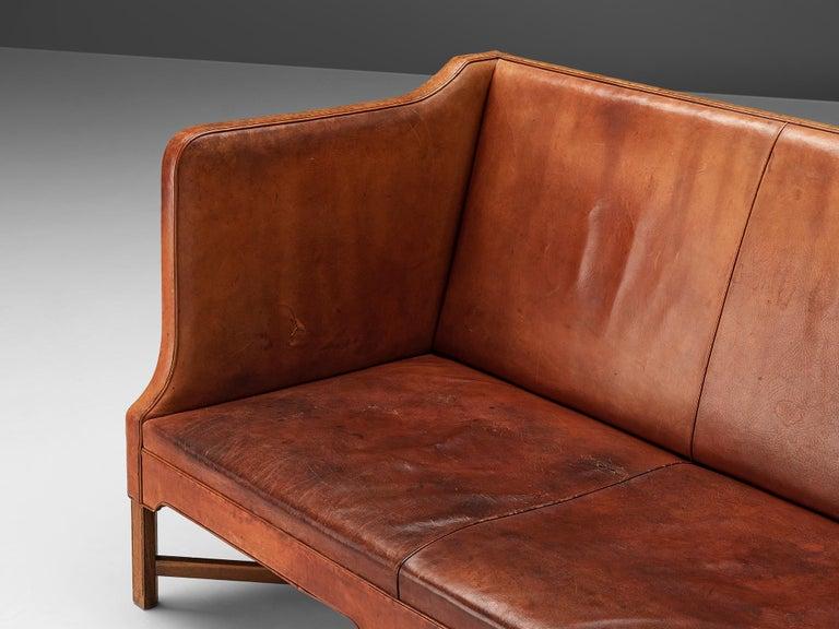 Mid-20th Century Kaare Klint for Rud Rasmussen Sofa 4118 in Original Leather For Sale
