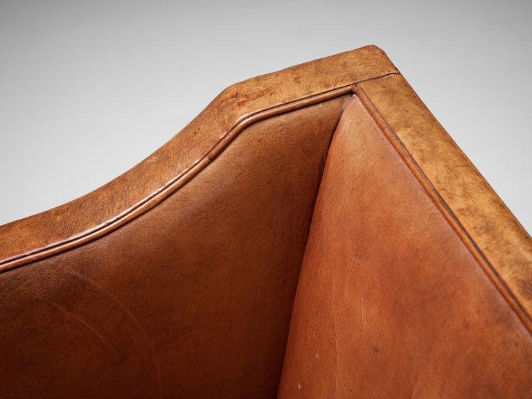 Kaare Klint for Rud Rasmussen Sofa 4118 in Original Leather For Sale 1