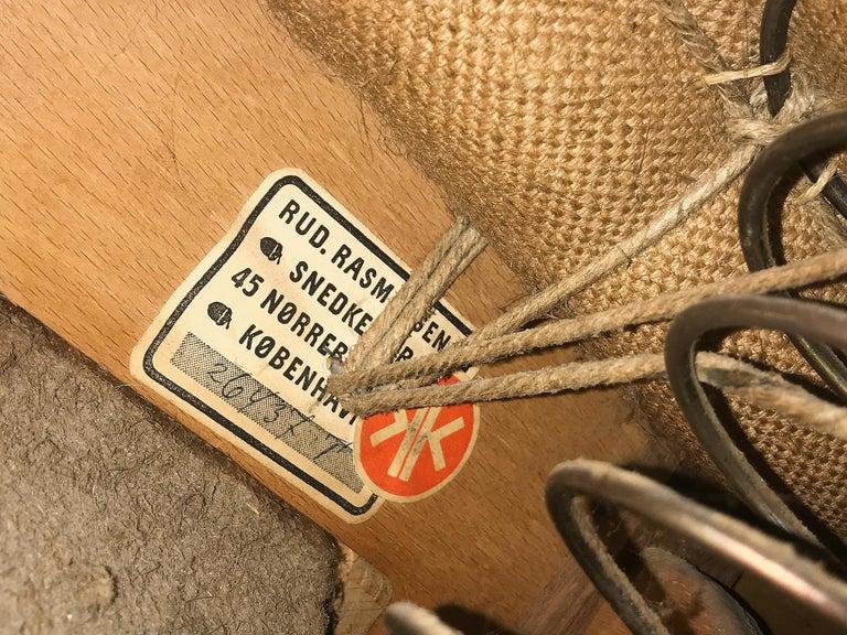 Kaare Klint for Rud Rasmussen Sofa 4118 in Original Leather For Sale 2
