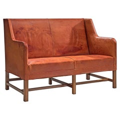 Kaare Klint for Rud Rasmussen Sofa in Original Leather