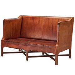 Kaare Klint for Rud Rasmussen Sofa Model '4118' in Original Leather