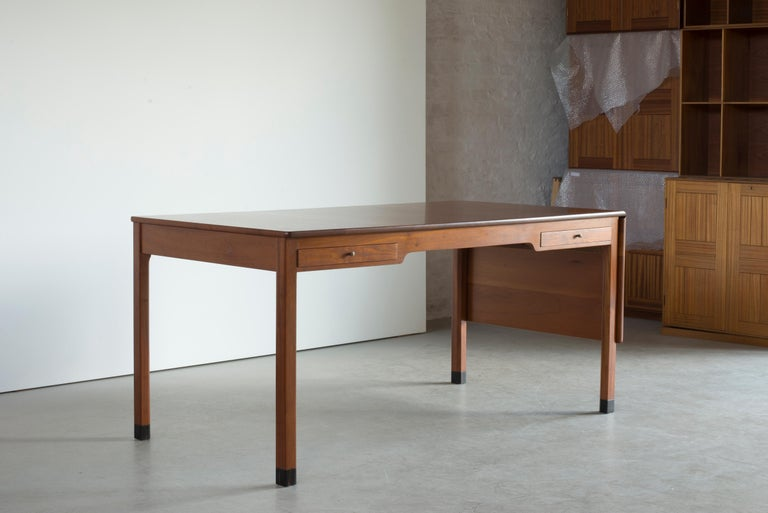 Danish Kaare Klint Mahogany Desk for Rud. Rasmussen For Sale
