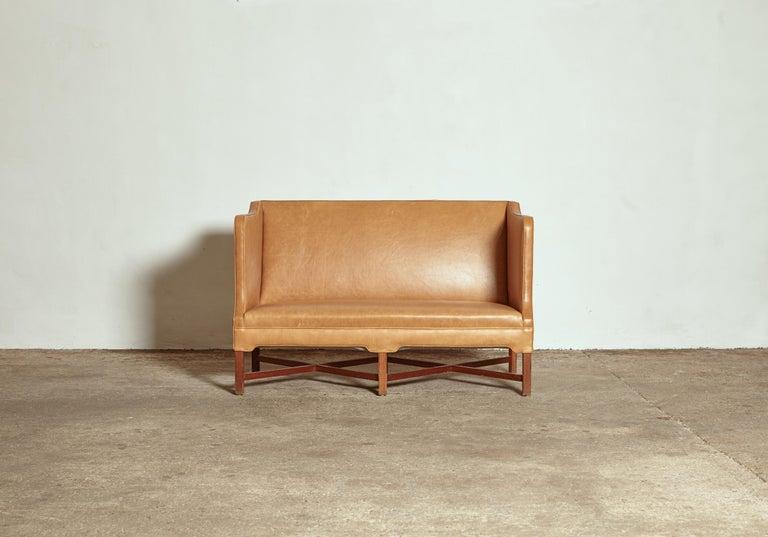 Danish Kaare Klint Model 4118 Box Sofa, Rud Rasmussen, Denmark, 1950s For Sale